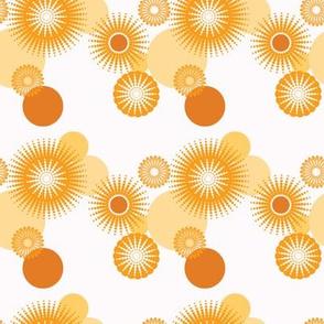 Sparkling Circles - 4in (orange)