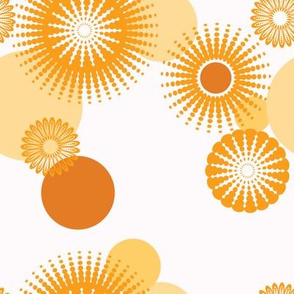 Sparkling Circles - 8in (orange)