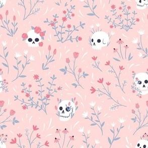 Pink Skull Floral