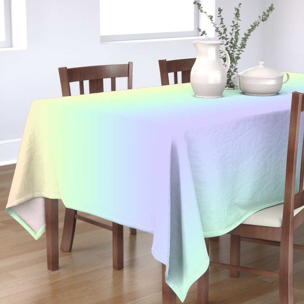 Bantam Rectangular Tablecloth featuring rainbow_pastel_blend by aspie_giraffe
