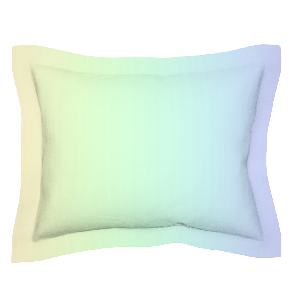 Sebright Pillow Sham featuring rainbow_pastel_blend by aspie_giraffe