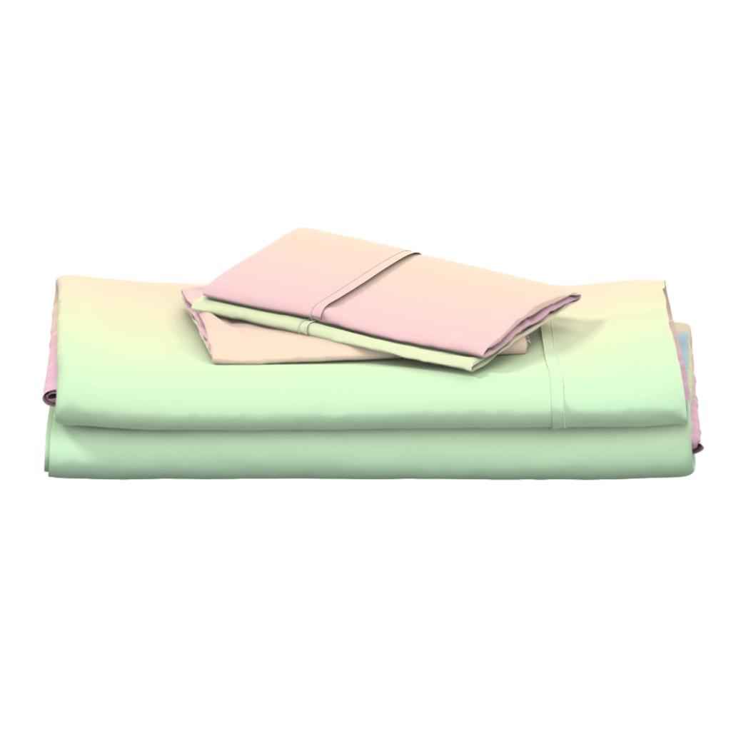 Langshan Full Bed Set featuring rainbow_pastel_blend by aspie_giraffe