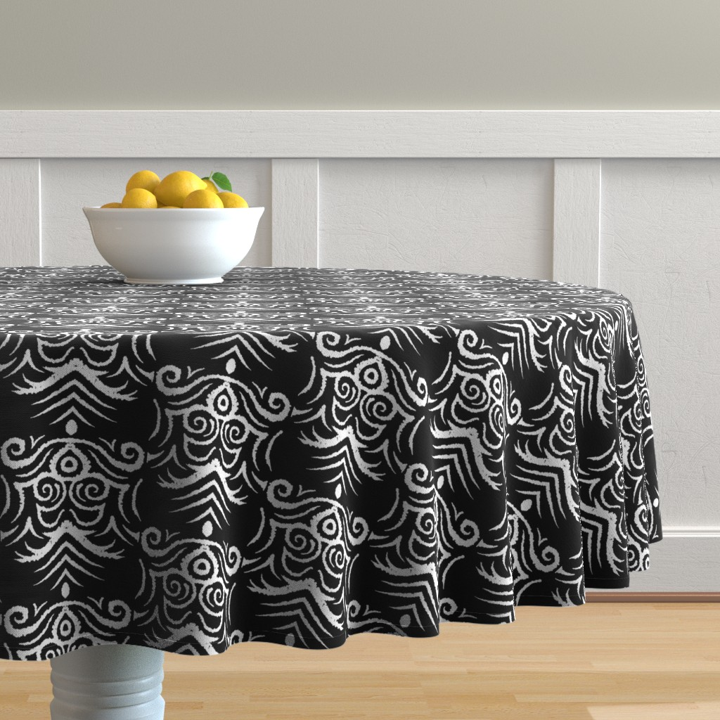 Malay Round Tablecloth featuring Coats_of_Arm by blayney-paul