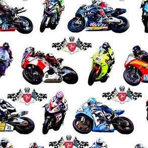 Moto GP Motorbikes White Background