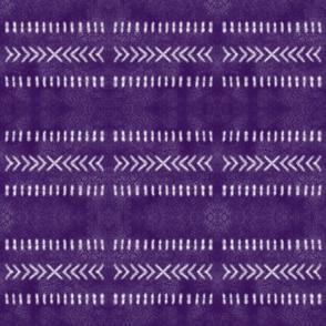 Minimalist Tribal Pattern on Purple