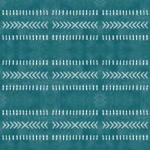 Minimalist Tribal Pattern in Teal