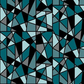 Geometric Design in Teal and Black