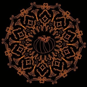 Fall Pumpkin Harvest Mandala Sketch