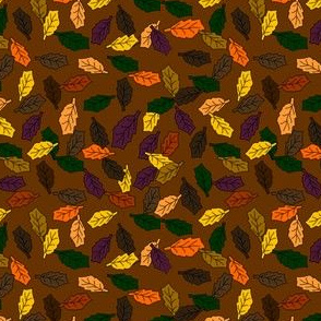 Fall Pumpkin and Leaves Fabric