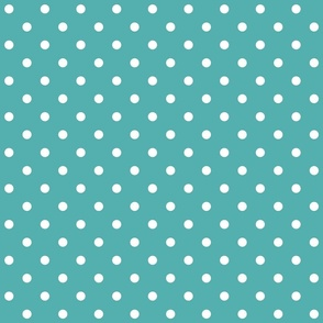 blue turquoise polka dots