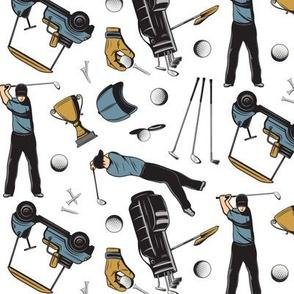 Golf Scatter-White