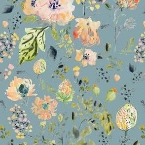 Botanical In Slate Blue