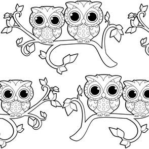 "Owl-Ways and Forever ""Color Me"" Lineart"