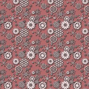 Embossed Snowflakes Pink