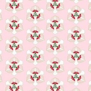 Formal floral on bright pink by Su_G