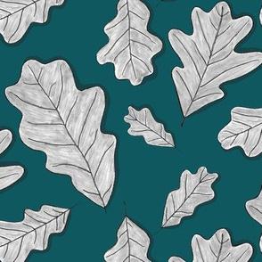 Charcoal Oak Leaves