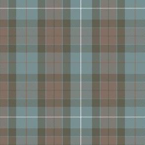 "reversed Fraser hunting tartan, 6"", rusty red stripe"