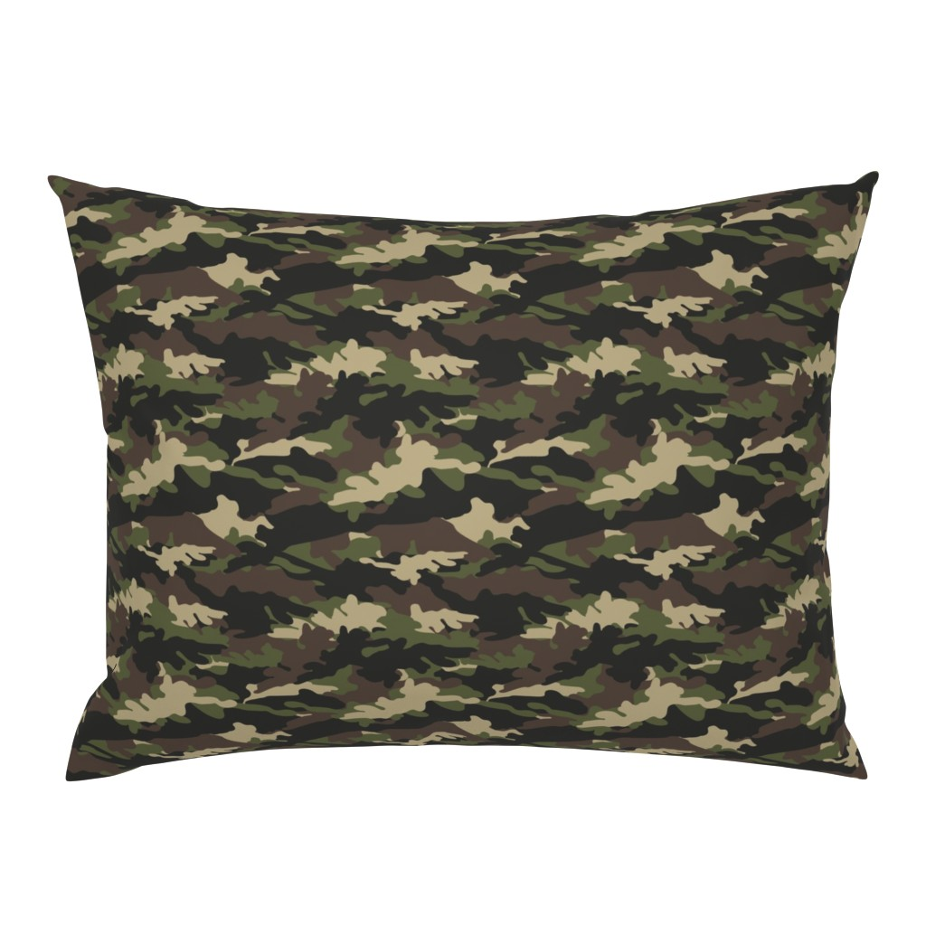 Campine Pillow Sham featuring C2 - camouflage  by littlearrowdesign