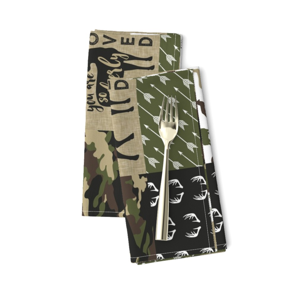 Amarela Dinner Napkins featuring Little Man - Deer Woodland wholecloth - C2(90) by littlearrowdesign