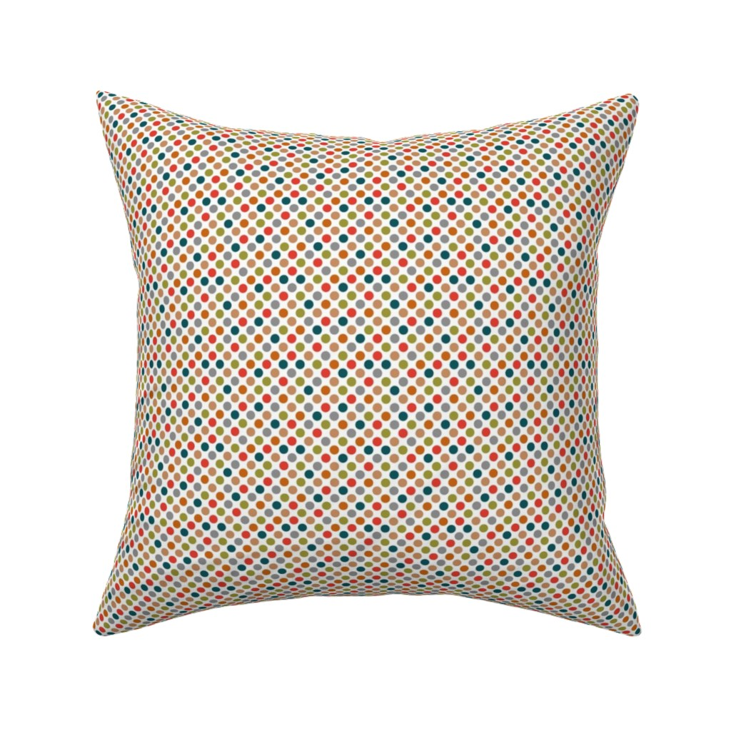 Catalan Throw Pillow featuring winter dots by colorofmagic