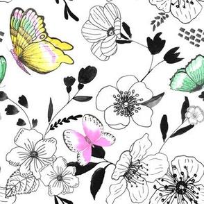 Monochrome Butterfly Rhapsody