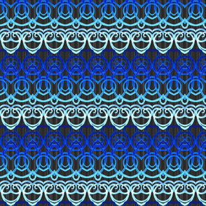 Macramé Dream - Blue & Black
