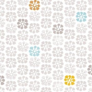 Flower Print Tea Towel