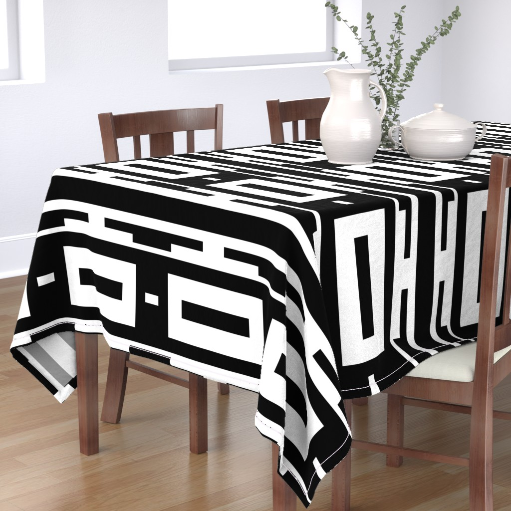 Bantam Rectangular Tablecloth featuring Line_House by blayney-paul