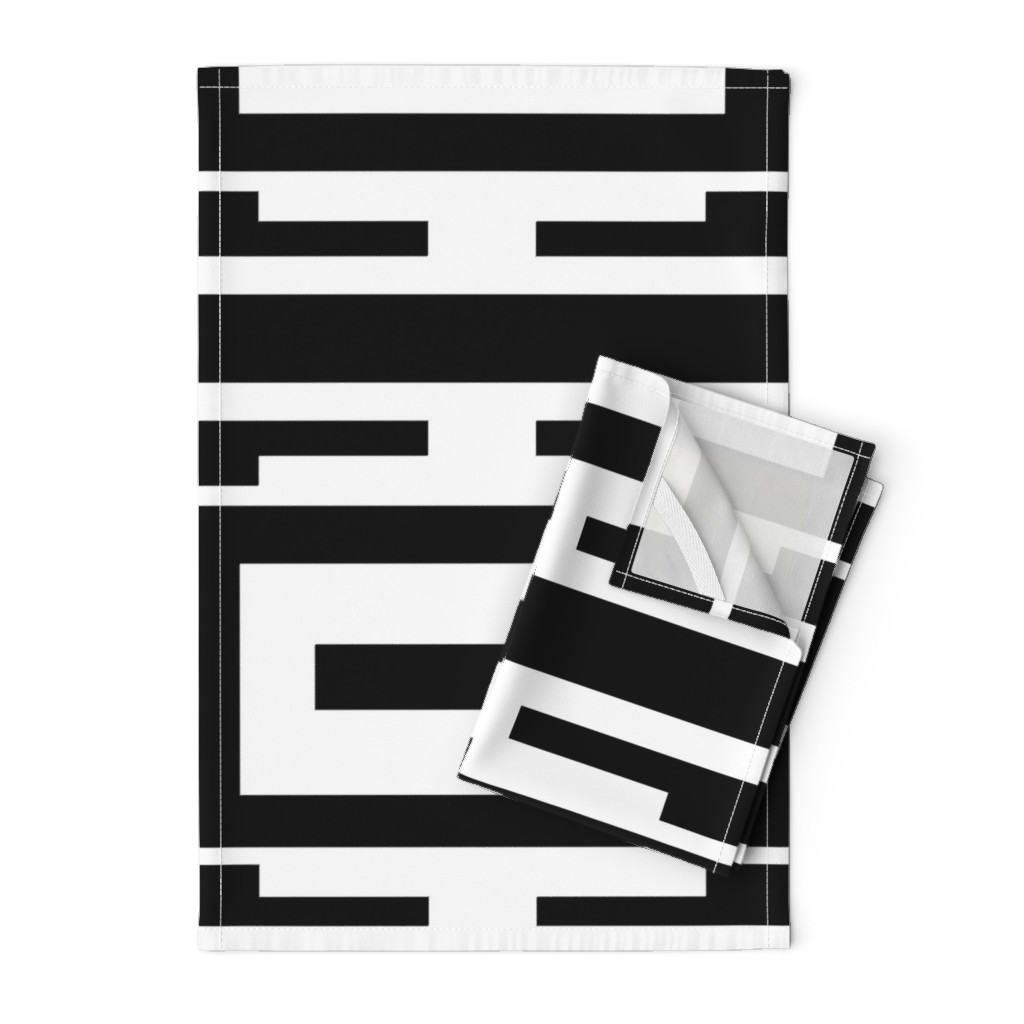 Orpington Tea Towels featuring Line_House by blayney-paul