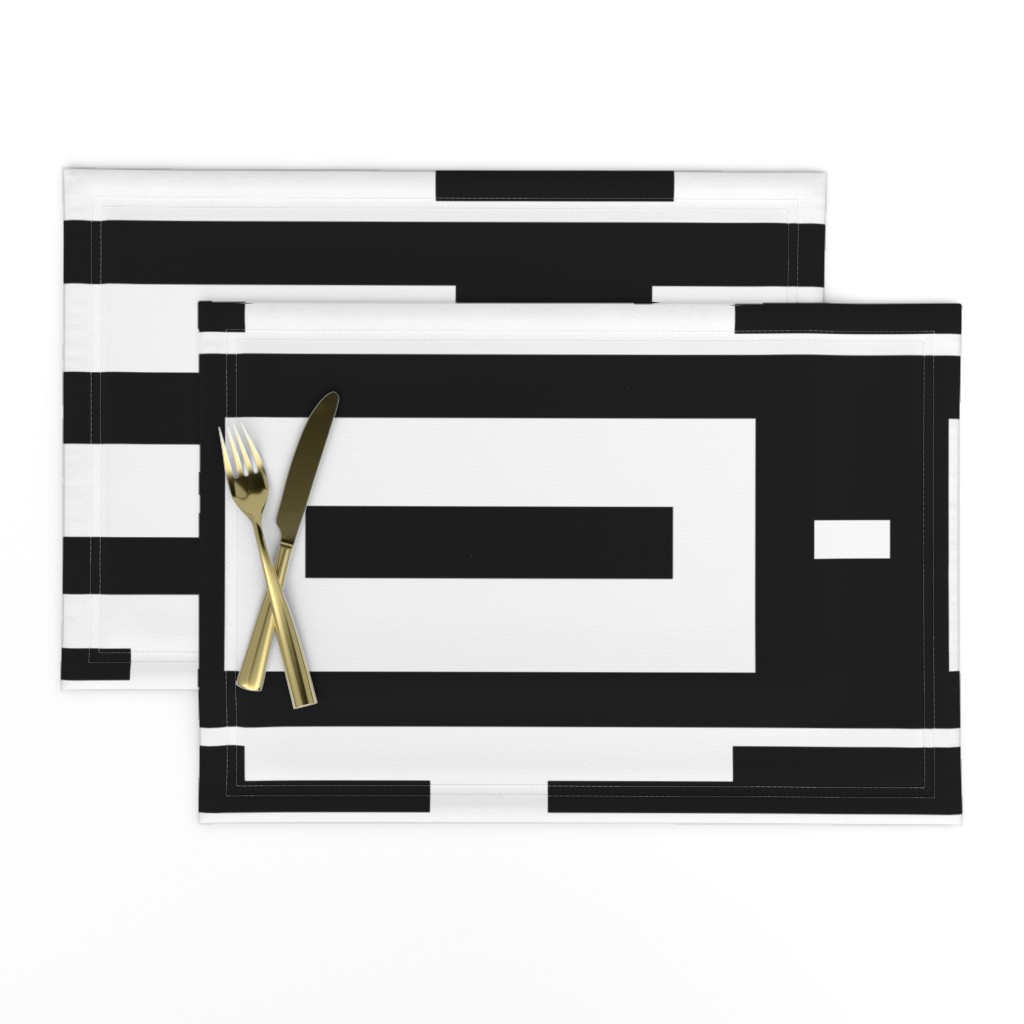 Lamona Cloth Placemats featuring Line_House by blayney-paul
