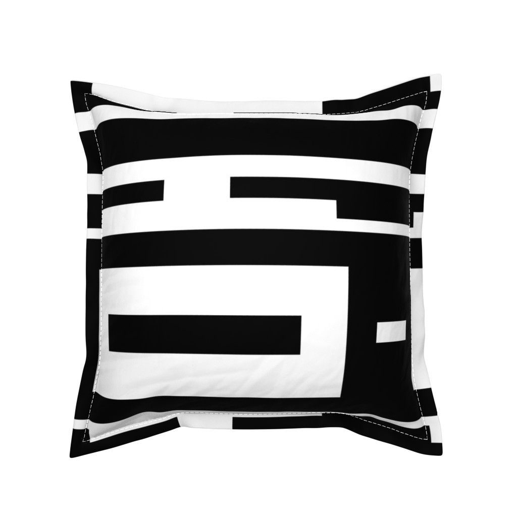 Serama Throw Pillow featuring Line_House by blayney-paul