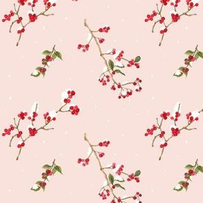 Snow Berries Pink