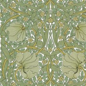 William Morris ~ Pimpernel ~ Original on White ~ Large
