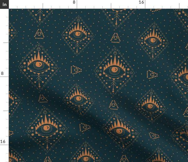 Fabric by the Yard Boho third eye sacred geometry