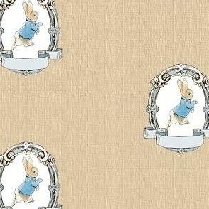 Peter Rabbit Shabby Chic Frame - Kraft Woven - Mini Scale