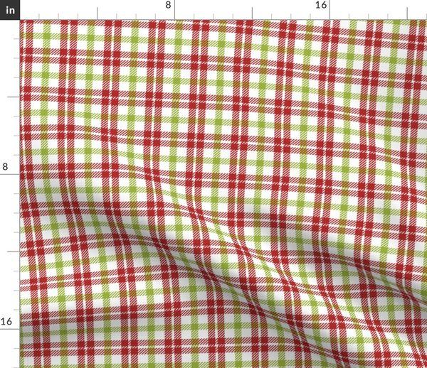 Fabric by the Yard Holiday Stripe Plaid