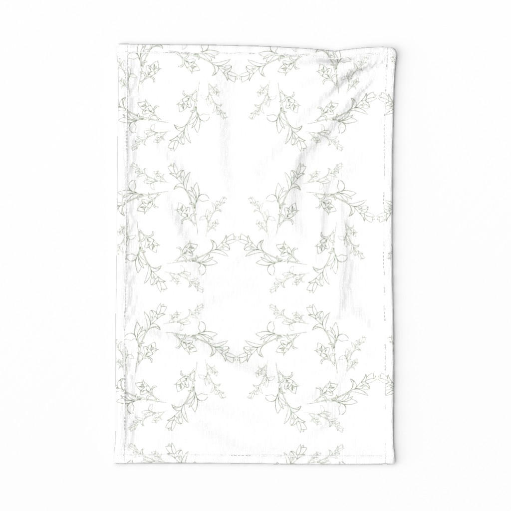 Special Edition Spoonflower Tea Towel featuring botanical rotation by rosemaryanndesigns