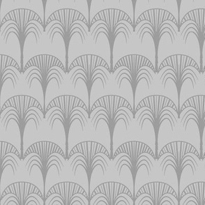 grey art deco palm