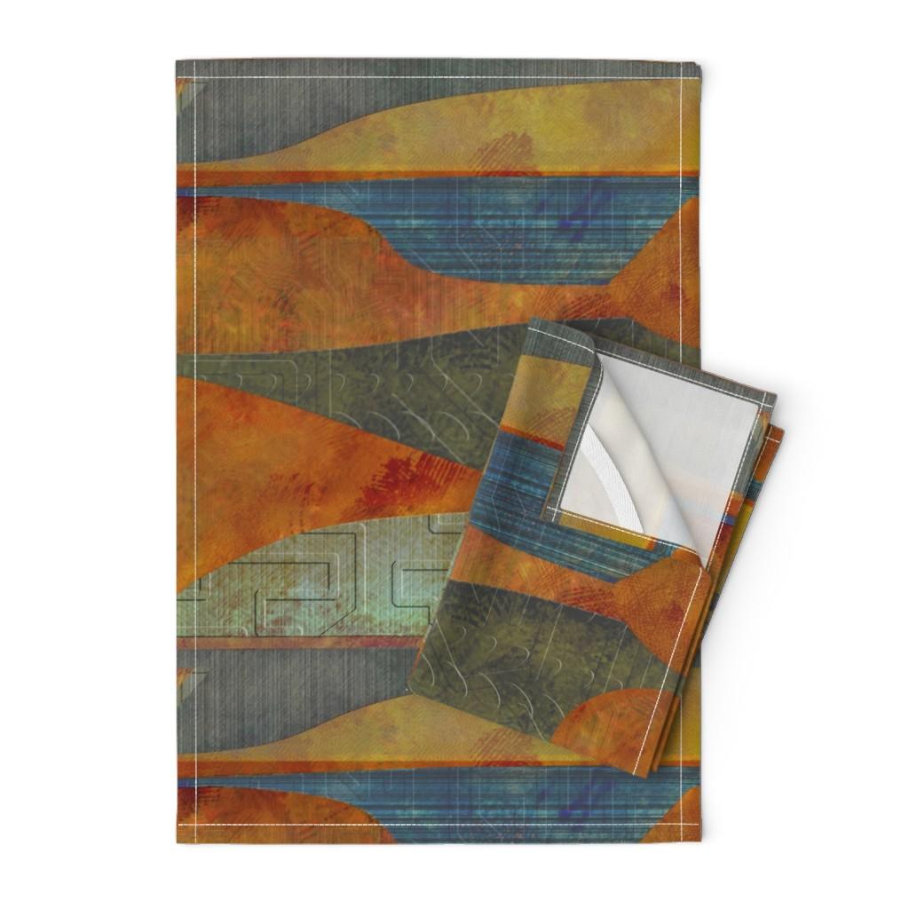 Orpington Tea Towels featuring four-level lighter landscape by wren_leyland