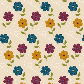Jewel Spiral Floral