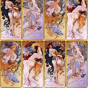"""8"""" The Four Seasons by Alfons Mucha"""