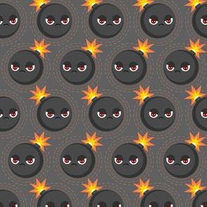 Cute  angry bombs