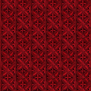 Gothic Cathedral Flowers Red Black