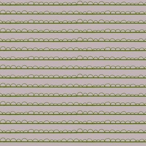 frilly stripe dusty lavender/seaweed