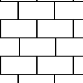 subway tile, neat black and white, no texture, wallpaper tiles