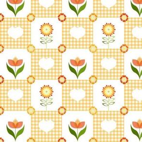 Groovy Flower Garden Orange