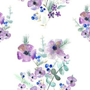 Winter Watercolor Floral