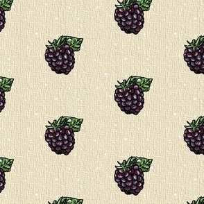 Blackberry Single - Kraft dot weave - Small scale