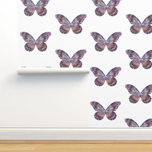 Wallpaper Pink Butterfly Watercolour