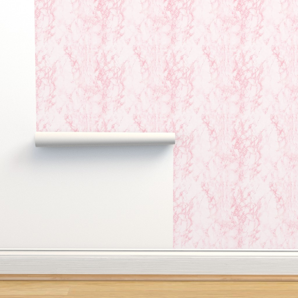Isobar Durable Wallpaper featuring Marble White Pink by kimsa
